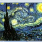 星月夜-フィンセント・ファン・ゴッホ-エクセルアート