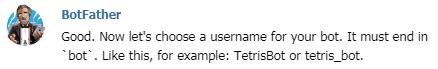 telegram(テレグラム)API-BotFather(ボットファーザー)04