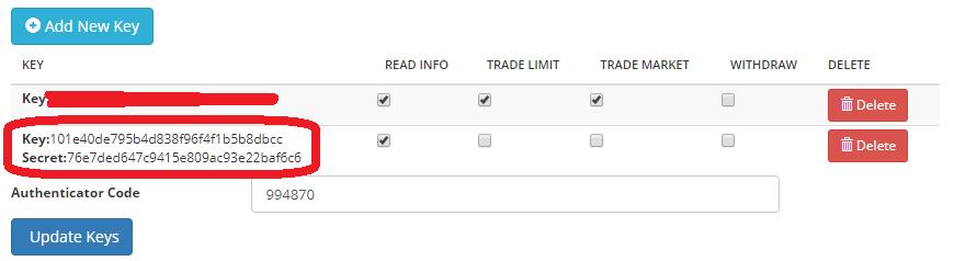 BittrexAPIの設定手順④