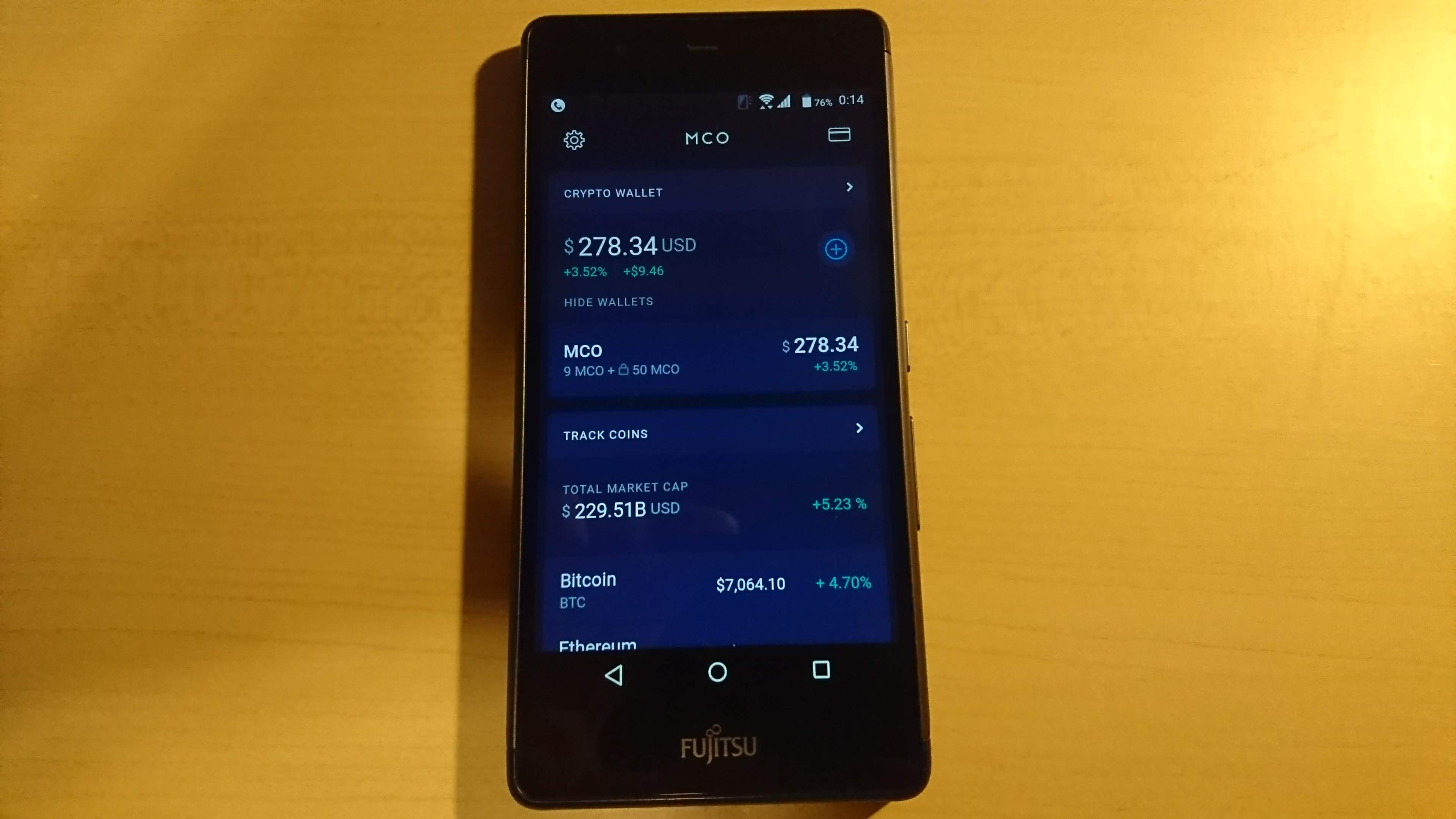 仮想通貨Monacoのウォレットアプリ