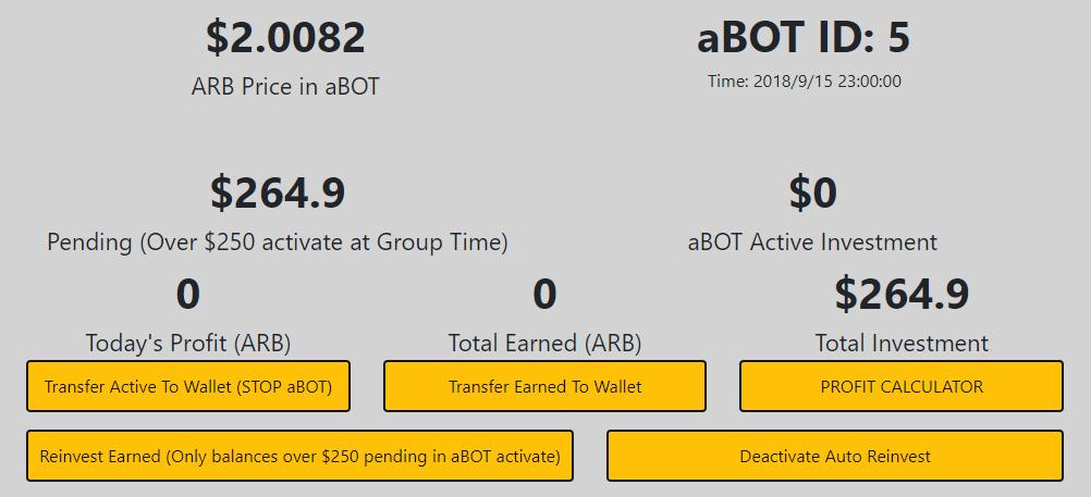 Arbitraging(アービトラージング)でaBOTを稼働させた